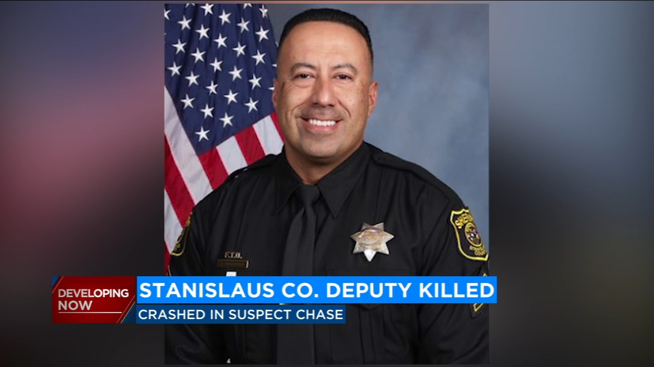 Stanislaus County Sheriffs Deputy Antonio Tony Hinostroza died after he crashed into a power pole while responding to a DUI chase late Sunday night.