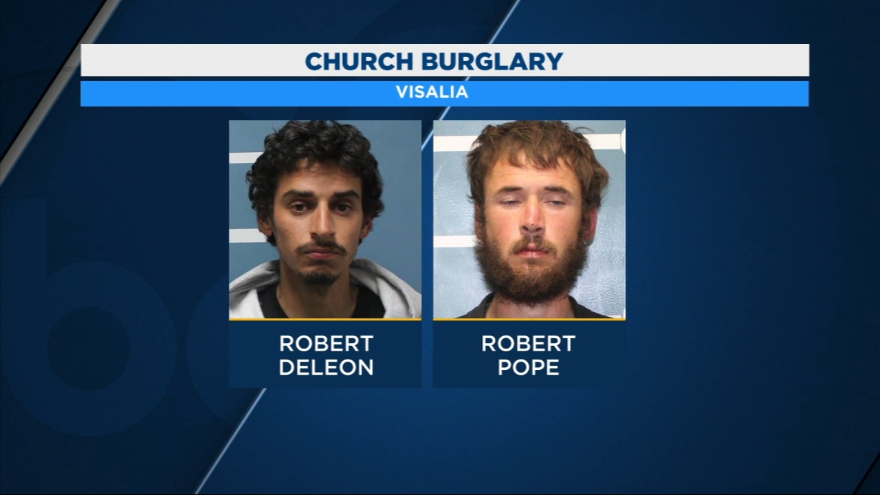 Visalia Police have two men in custody for burglarizing a church.