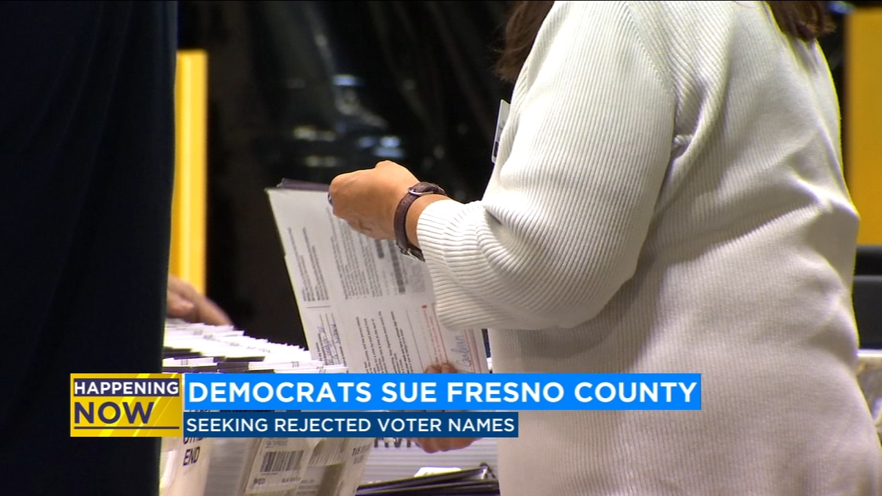 Democrats sue Fresno County to see whose votes got rejected