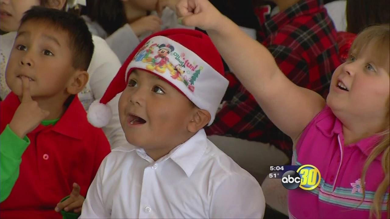 South Valley school was first stop for new campaign to make sure all kids get something for Christmas