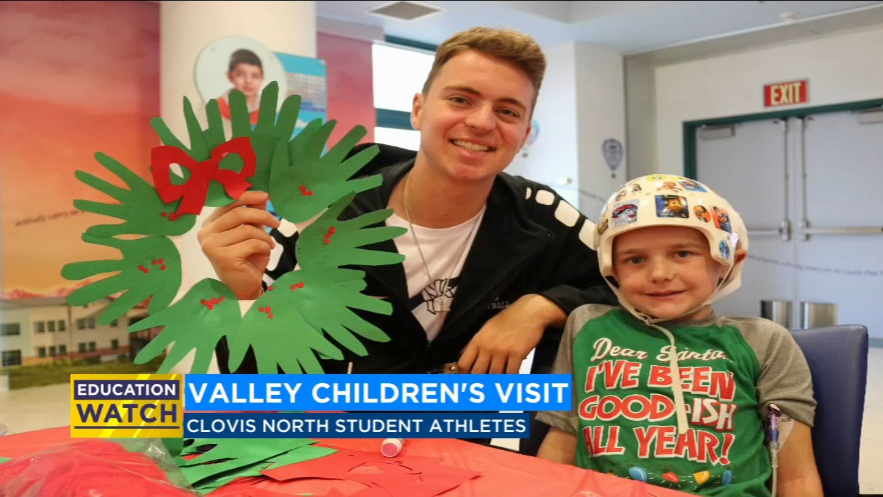 Valley student athletes took some time to spread holiday cheer at the Valley Childrens Hospital on Wednesday.