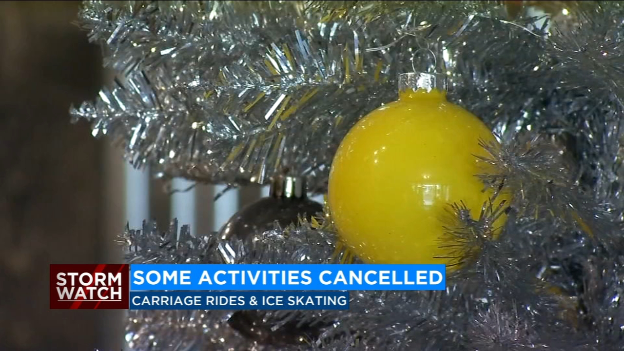 Carriage rides and ice skating are cancelled on Thursday due to the weather. But many businesses will stay open late.