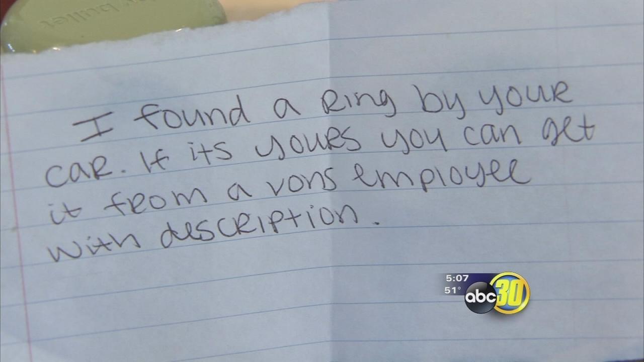 Coarsegold woman seeks hero who found her wedding ring