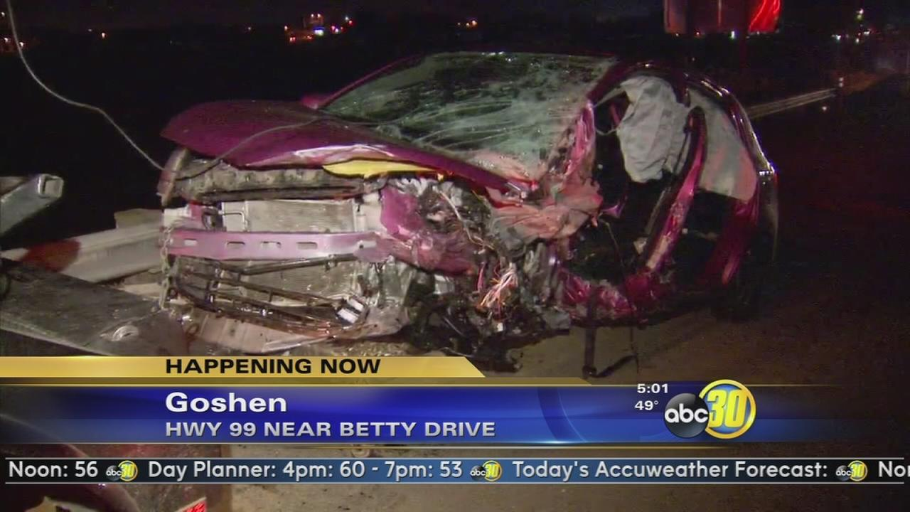 Wrong way driver causes a head-on crash, shuts down HWY 99