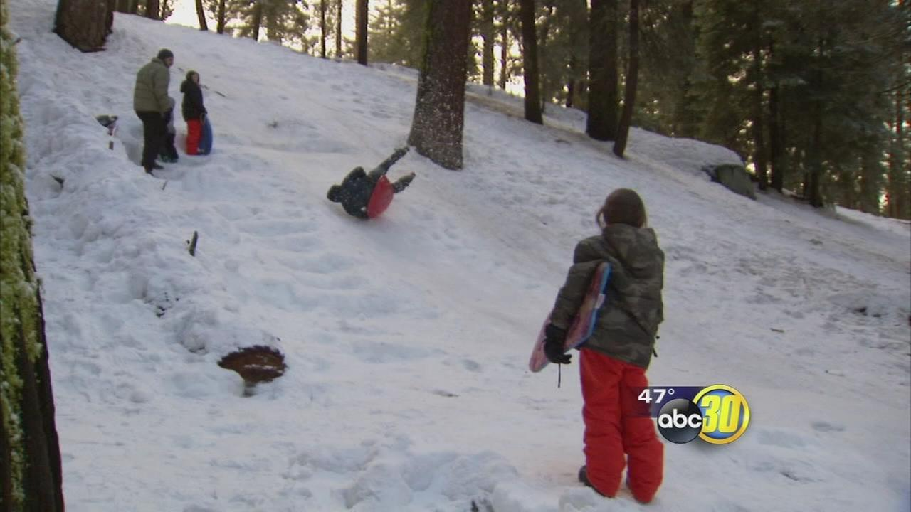 Kings Canyon National Park visitors welcome winter fun