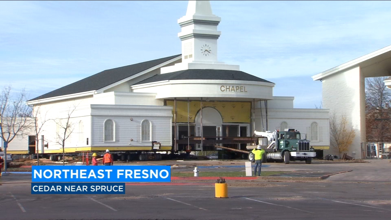 A northeast Fresno mega church was in the middle of a major expansion - one which involved moving an entire chapel.