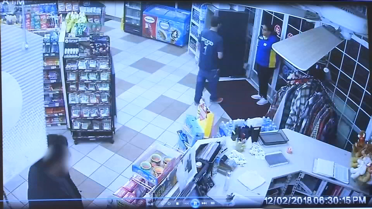 A store clerk held at gunpoint in Kingsburg stops the suspect when he comes back to the business just days later.