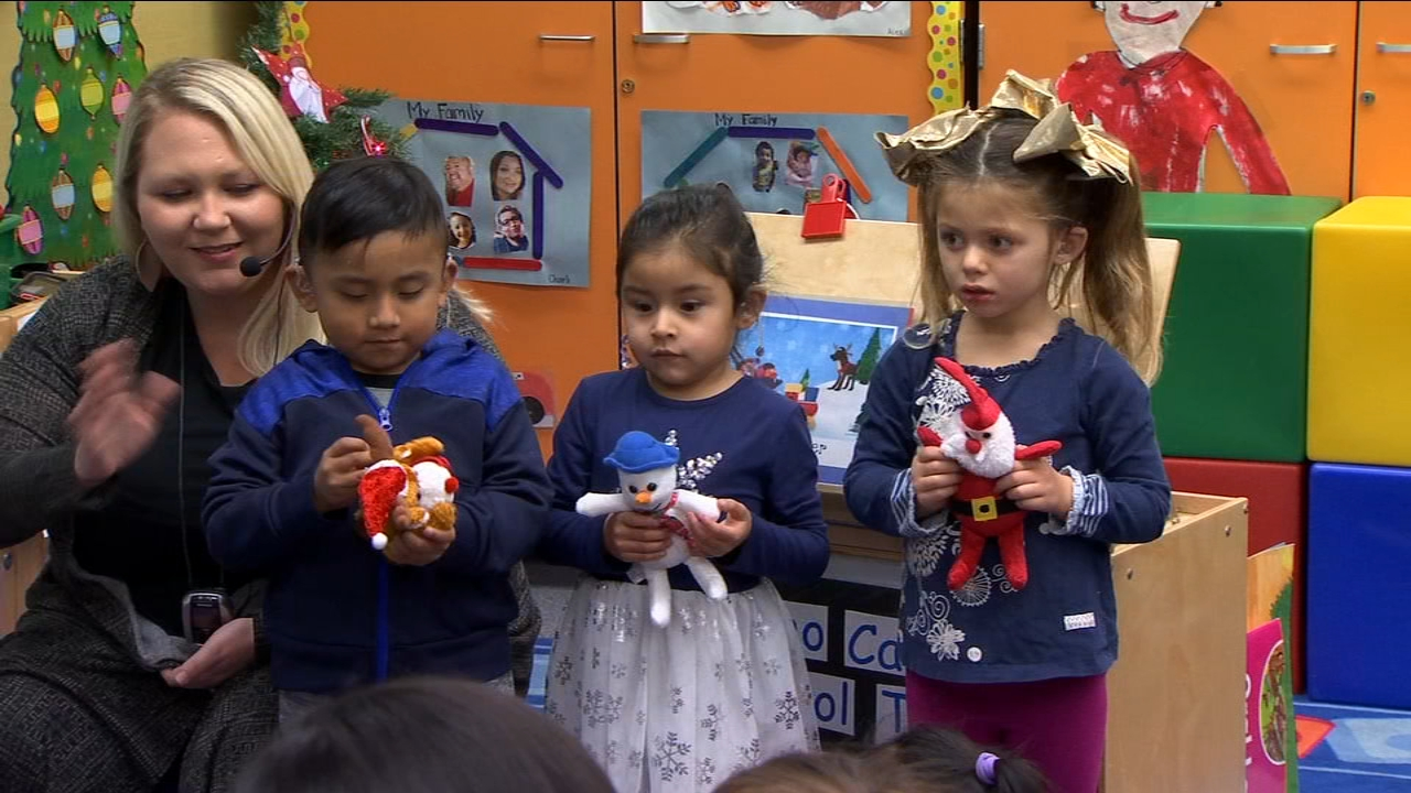 There was plenty of holiday spirit at Birney Elementary School in Central Fresno Thursday. Students in the schools deaf and hard of hearing program are learning to listen and talk