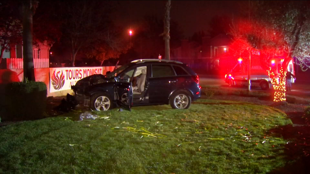 Two young children are in the hospital being treated for injuries they sustained when their mom lost control of the car they were in and crashed into a tree.