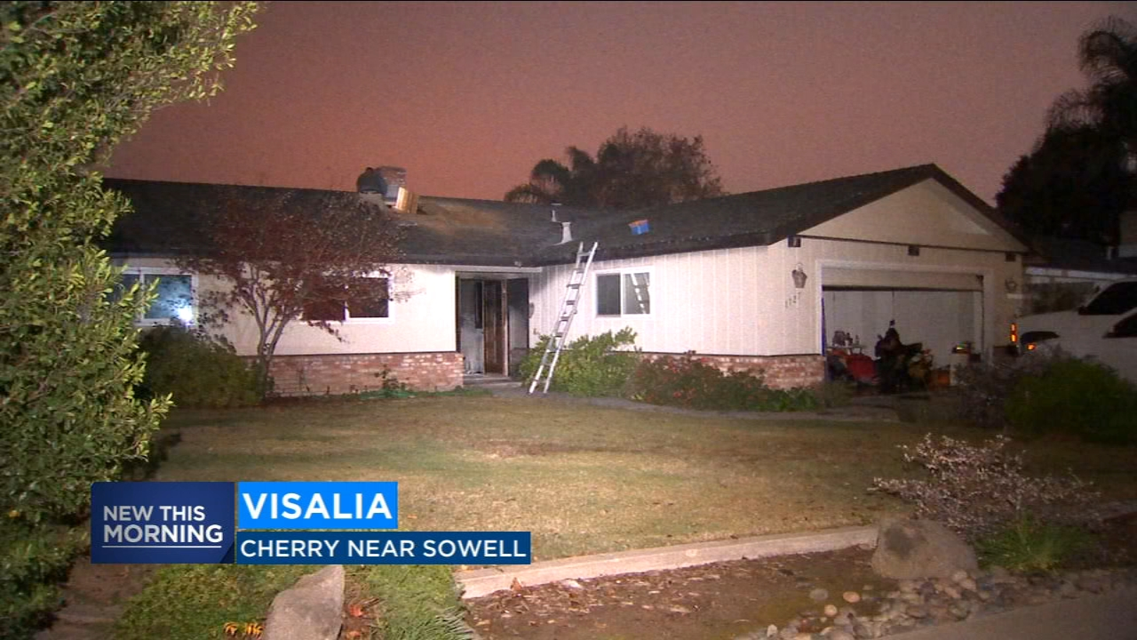 Residents of a Visalia home were safe after a late night house fire on Sunday night.