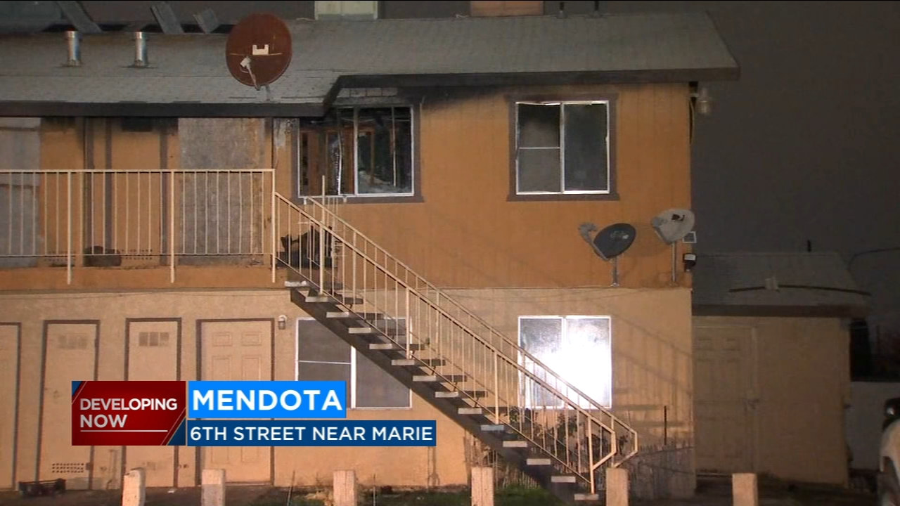 Dozens of people are being helped by the Red Cross Monday morning after an apartment fire in Mendota.