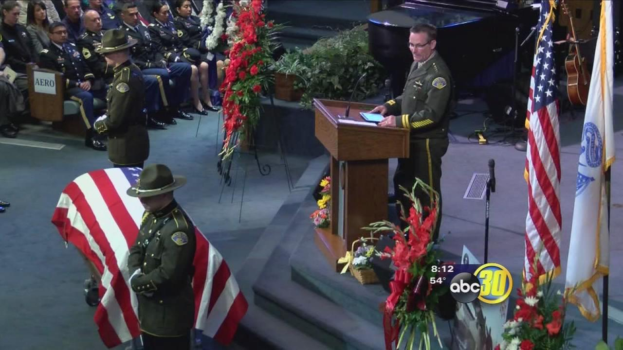 Loved ones say goodbye to Tulare County Sheriffs pilot killed in crash