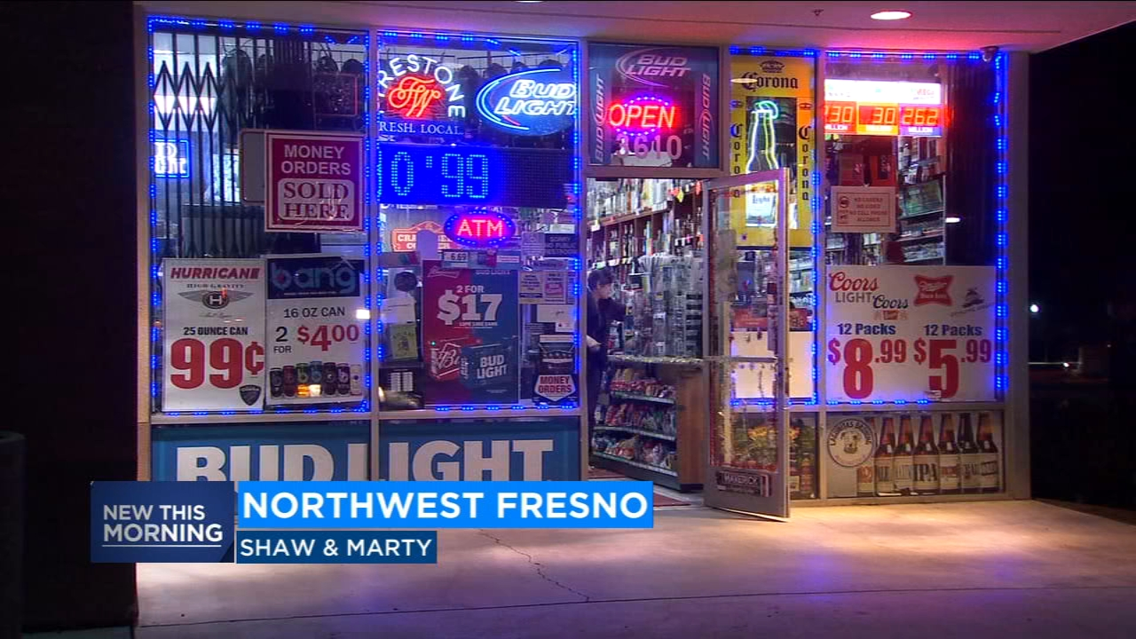 Police are looking for a man who robbed a liquor store at gunpoint in northwest Fresno.