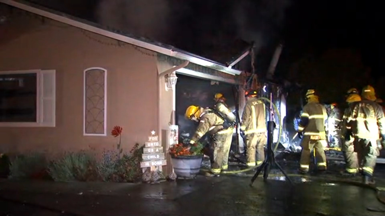 Investigators are on the scene of a fire that severely damaged a home in the Madera County foothills.