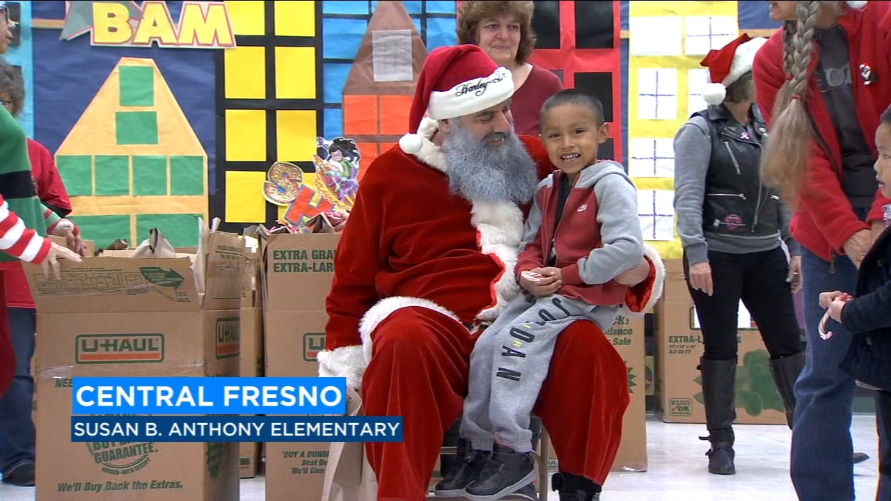Christmas comes early for Fresno elementary students, courtesy of Mathews-Harley Davidson