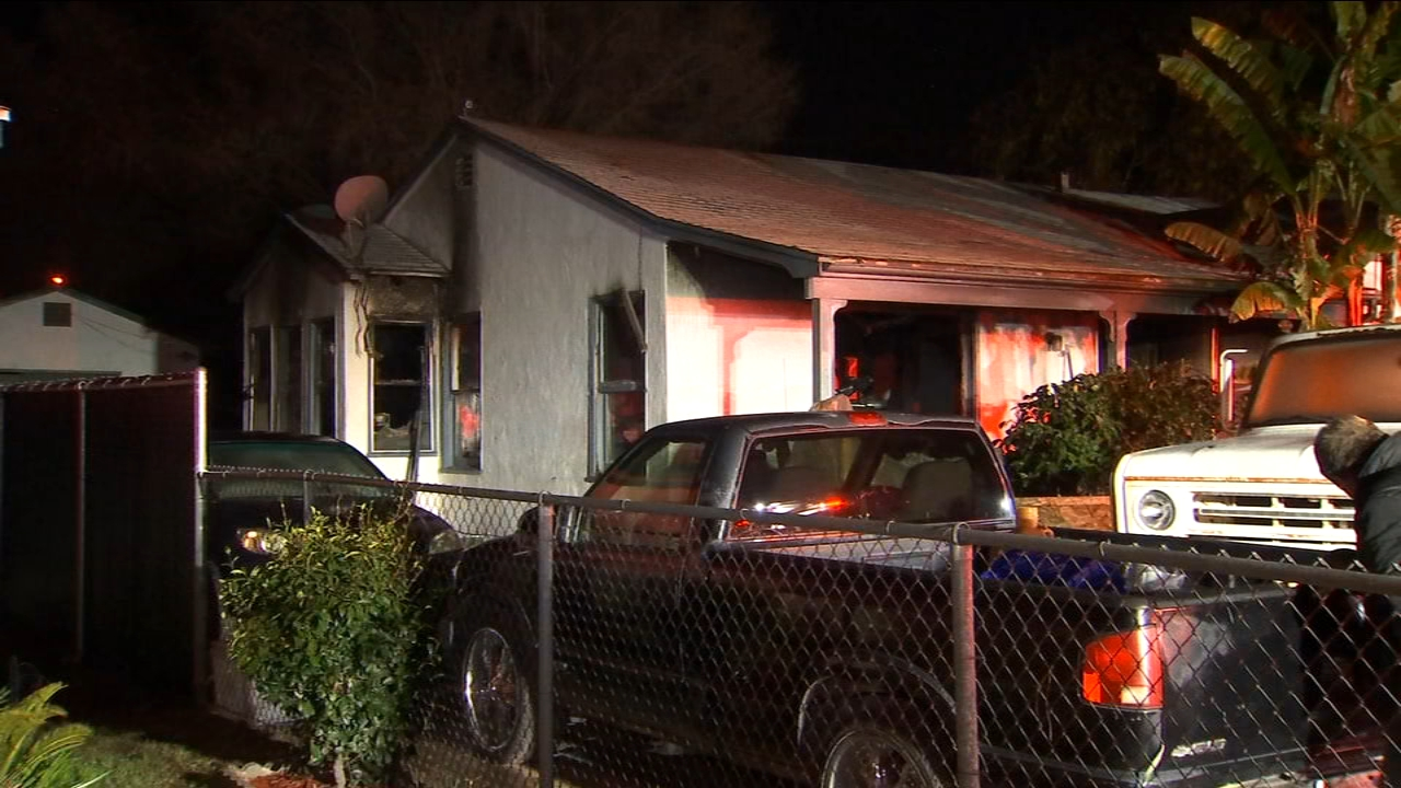 Two people are being treated for serious burns from a house fire in Central Fresno.