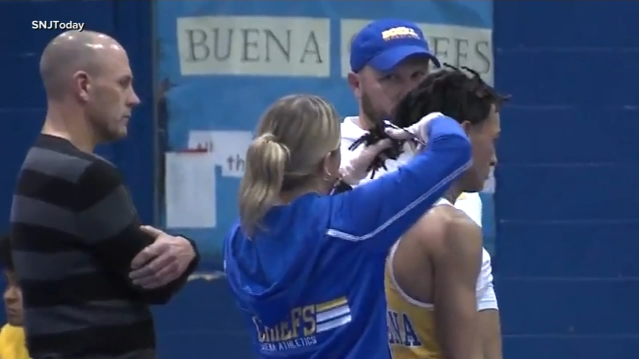 A New Jersey high school wrestler had his dreadlocks cut off minutes before his match after a referee told him to lose the hairstyle or forfeit his bout