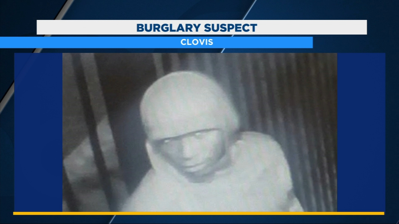 Clovis police are searching for a man who they believe is behind a break-in at an apartment office near Villa and Shaw.