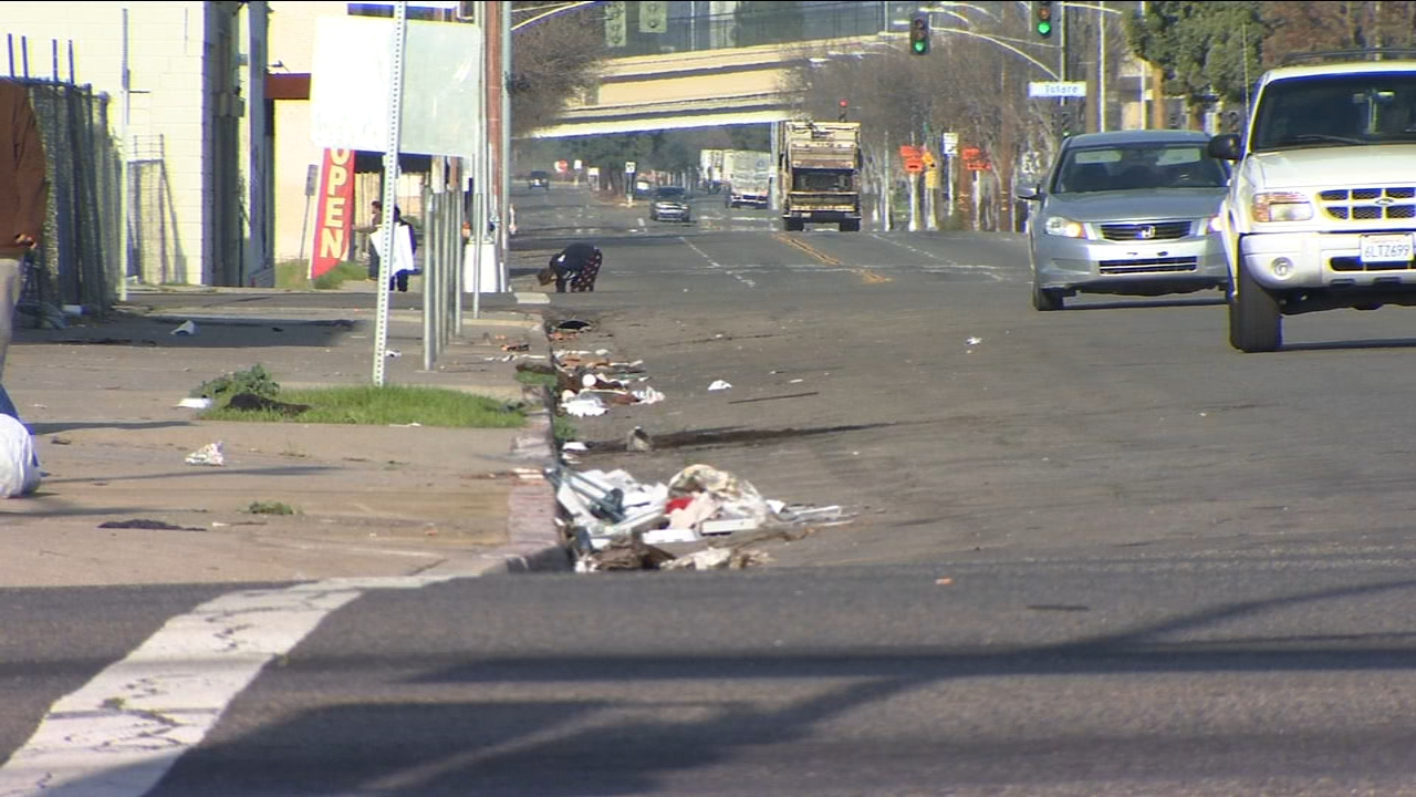 Christmas aftermath leaves tons of trash in Downtown Fresno