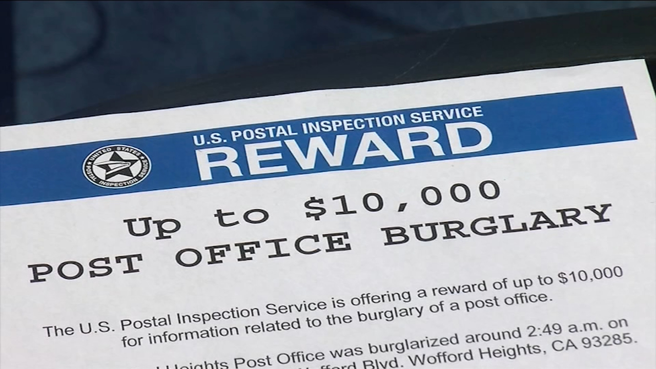 Postal Service offers $10,000 reward to find suspects involved in string of burglaries