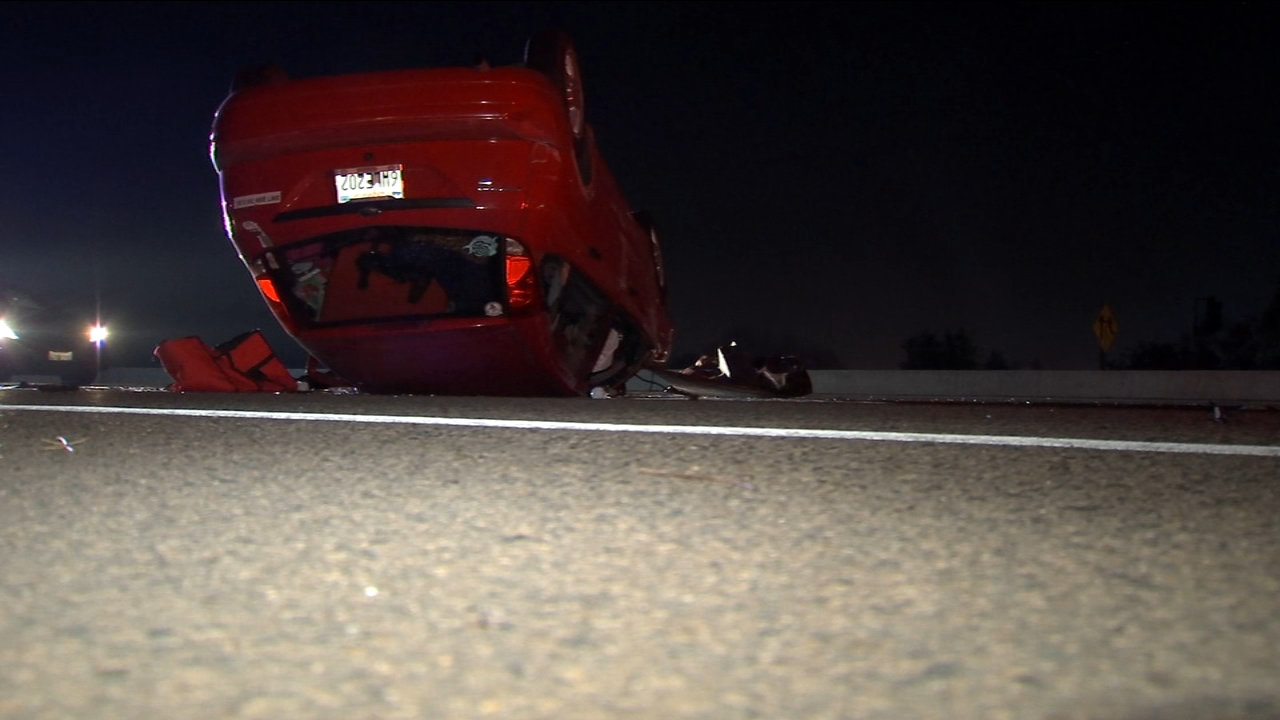 Mother, three children injured in overturned vehicle collision on Hwy 180