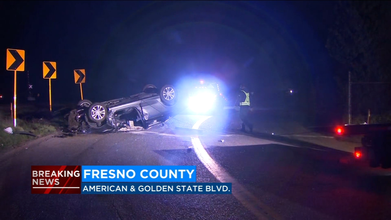 A woman was killed and man was injured in an early morning crash in Fresno County, according to the California Highway Patrol.