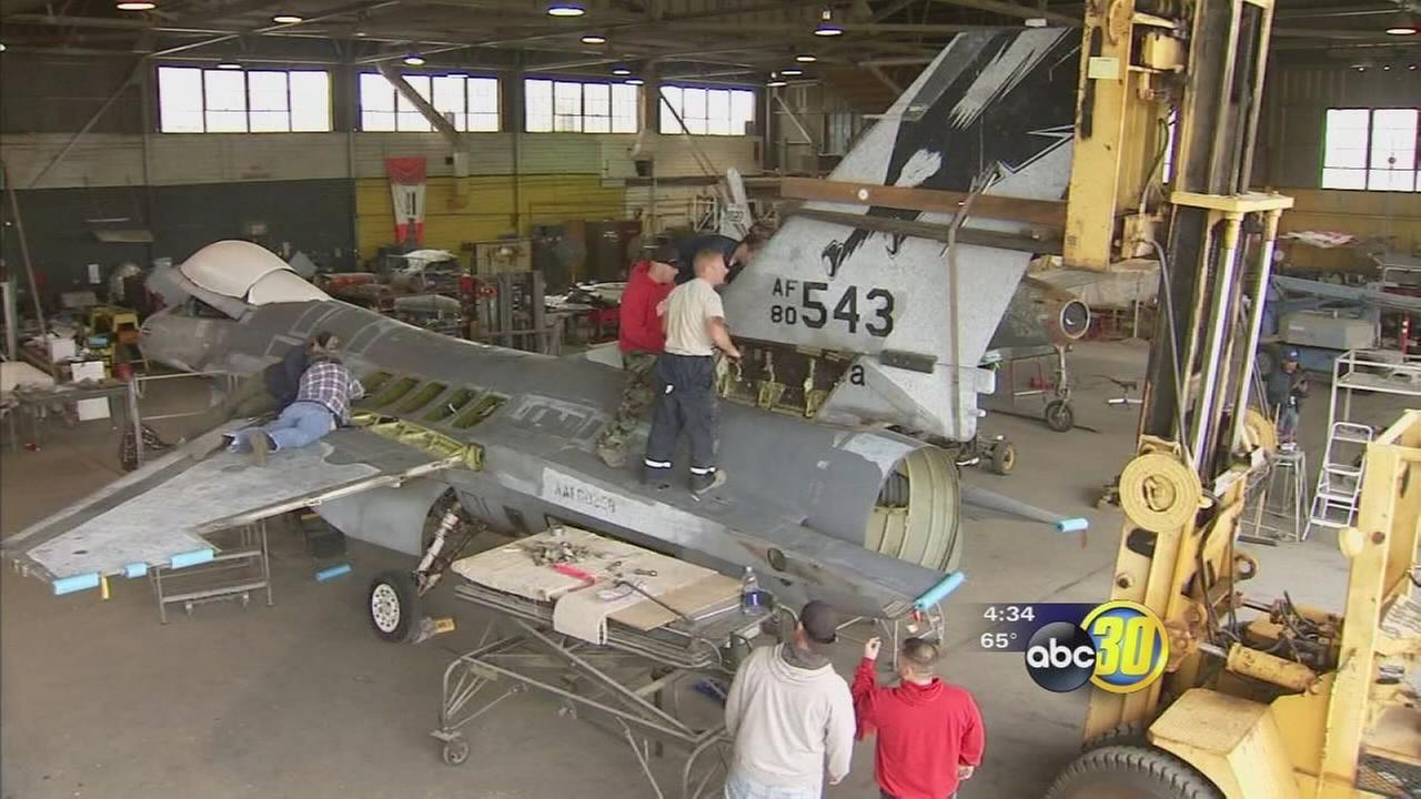 F16 with Fresno ties finds home at air museum in Merced County