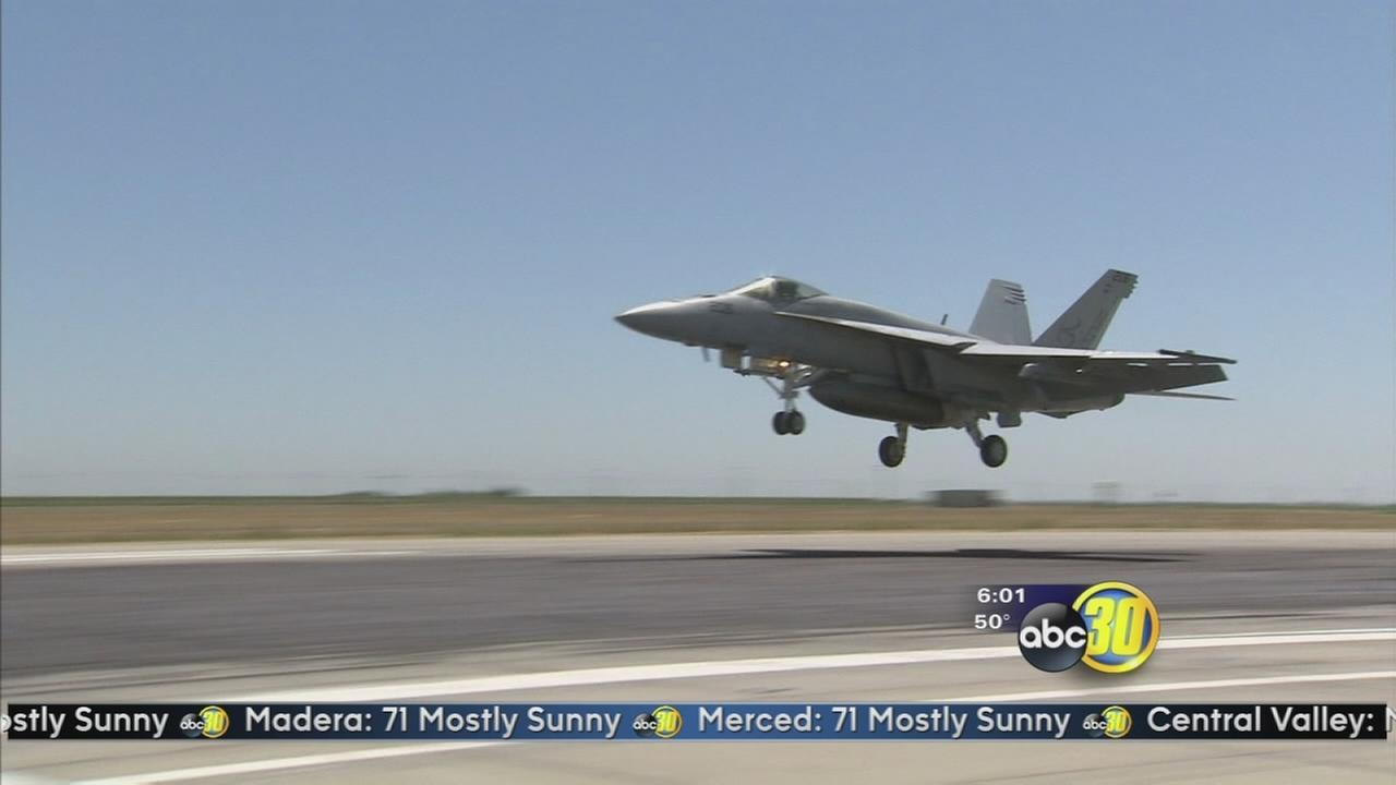 CHP chase ends in fatal crash into a F/A-18 at NAS Lemoore