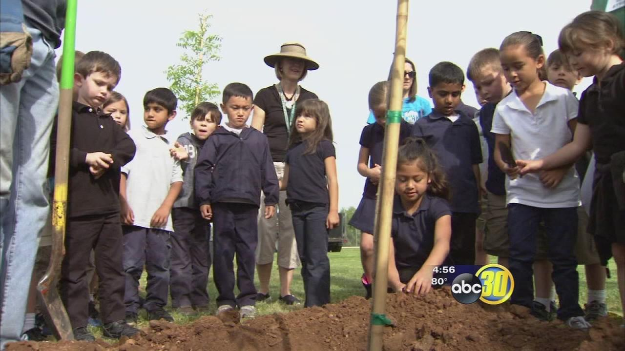 Students at Quail Lake Environmental Charter School got their hands dirty
