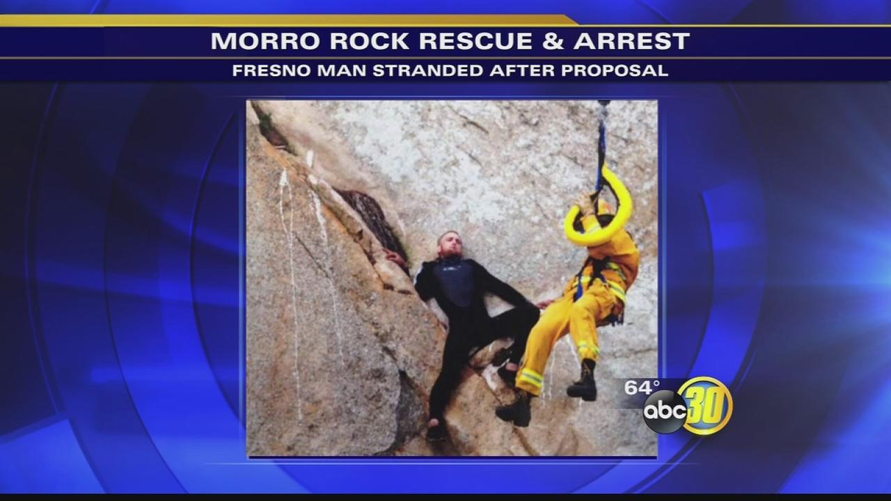 Fresno man rescued after slipping off Morro Rock arrested