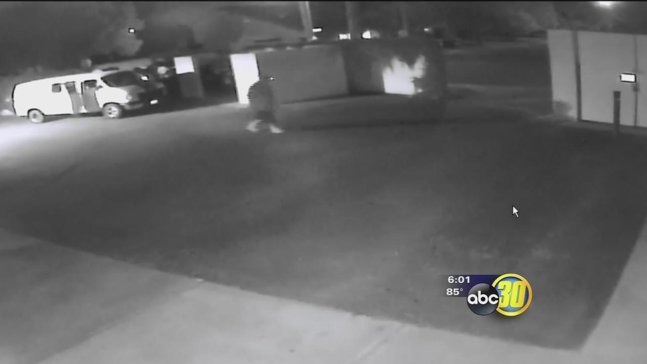 Surveillance video shows copper wire theft for the 4th time at a Central Unified School