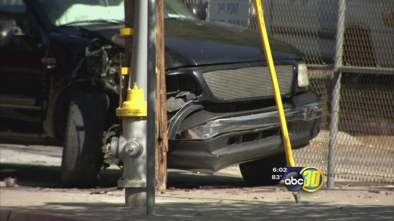 Drunk driver leads police on high-speed chase in Central Fresno, ends in hazmat situation