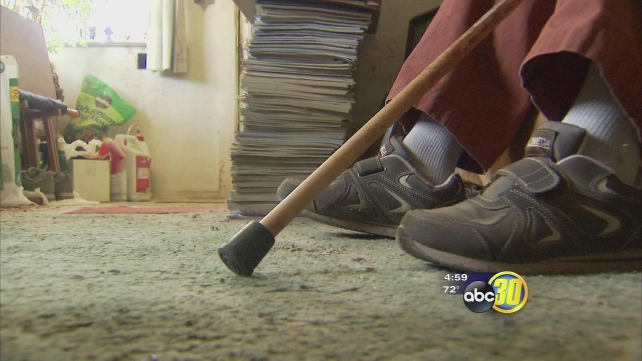 Fresno man confronts burglar, hits him with cane