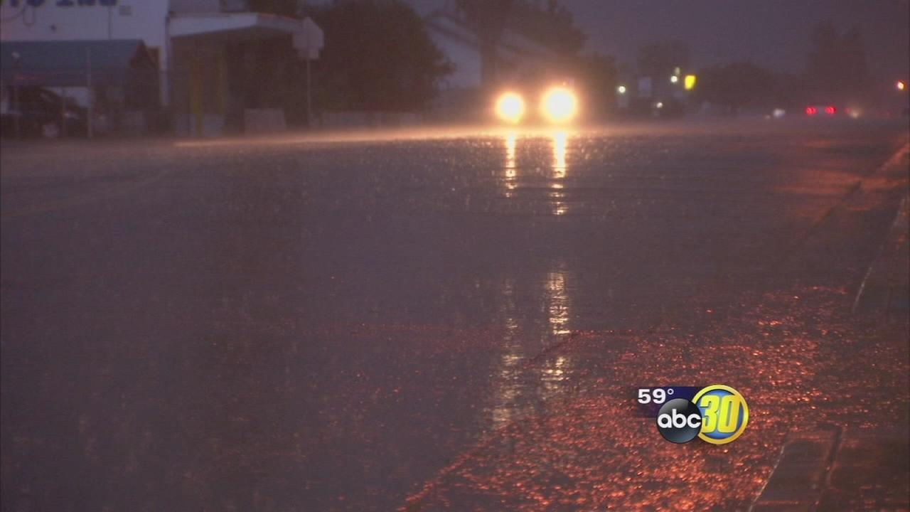 Strong spring storm sweeps across the Valley