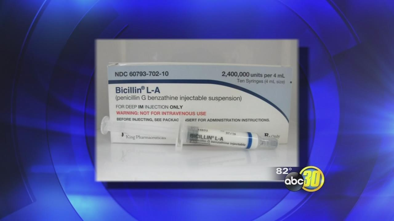 Fresno health officials concerned with shortage of syphilis fighting drugs