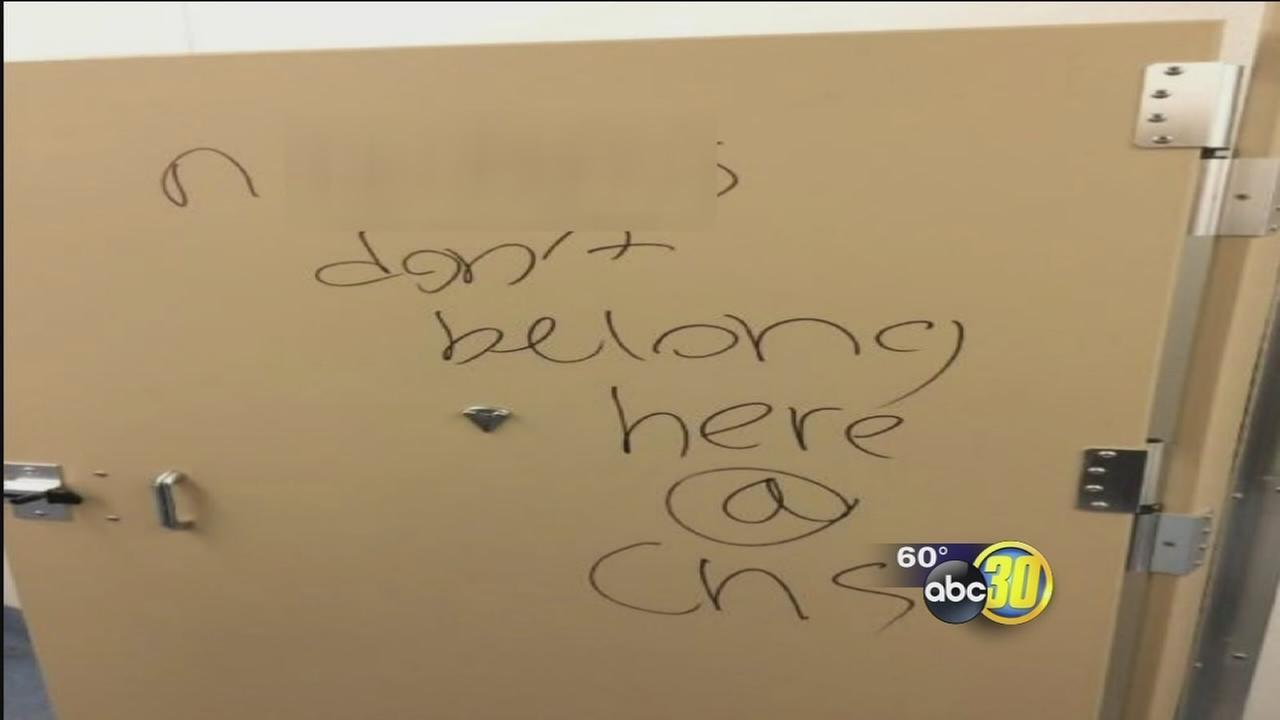 Racist graffiti found in Clovis High bathrooms
