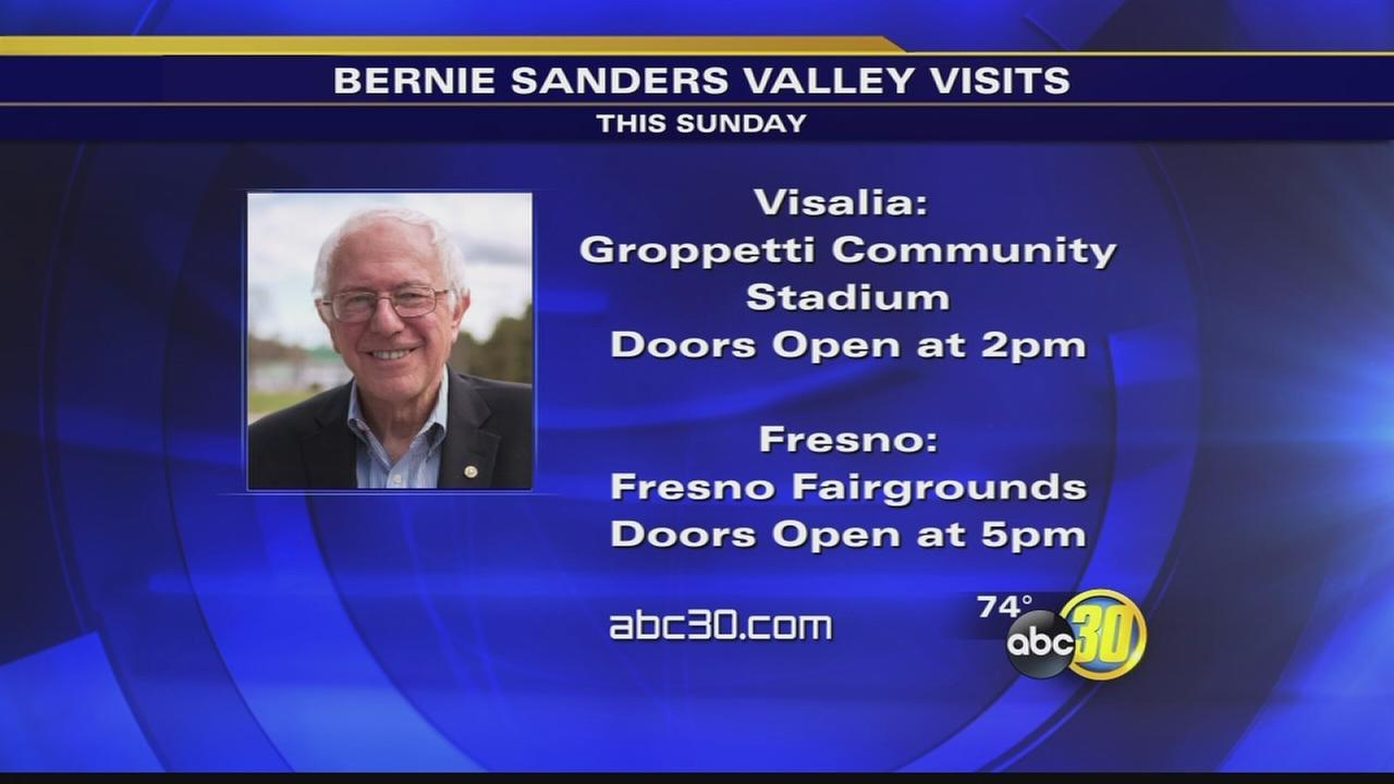 Bernie Sanders campaign moves rally to Fresno Fairgrounds, adds stop in Visalia