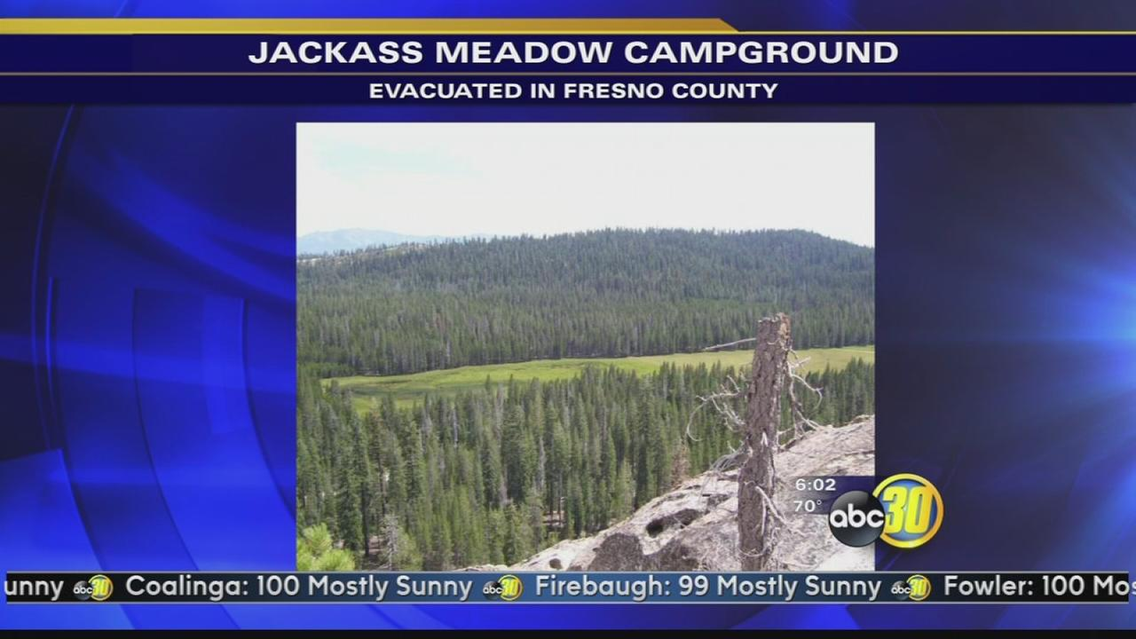 Jackass Meadow Campground closed due to water overflow