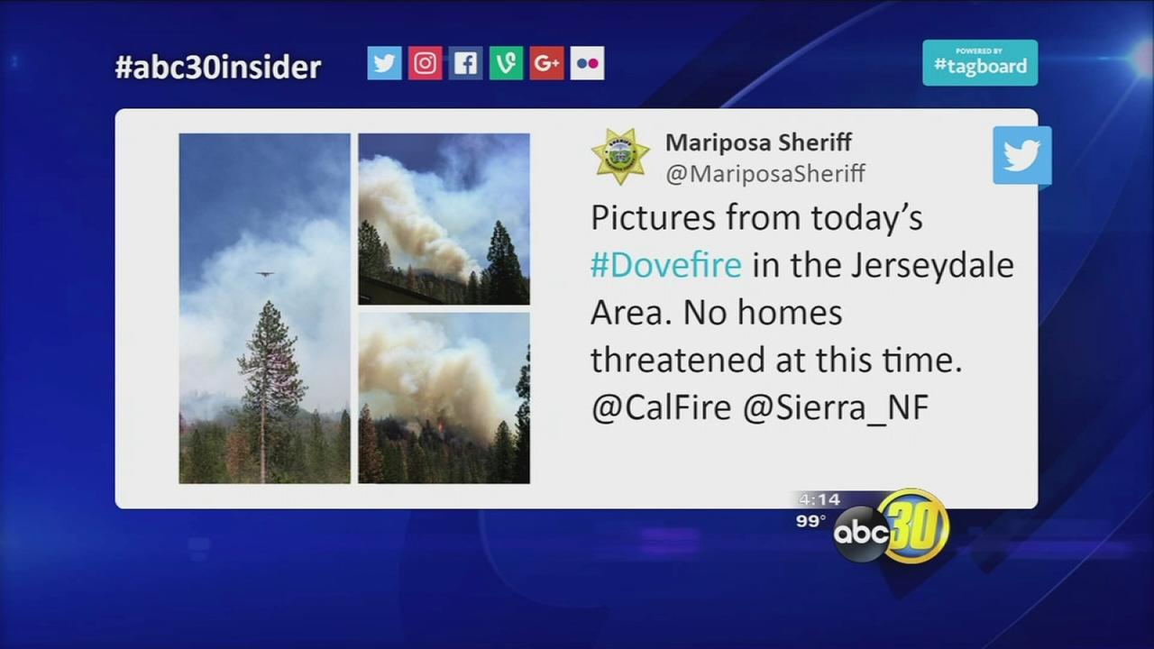 #abc30insider Today: Fire near Sierra National Forest