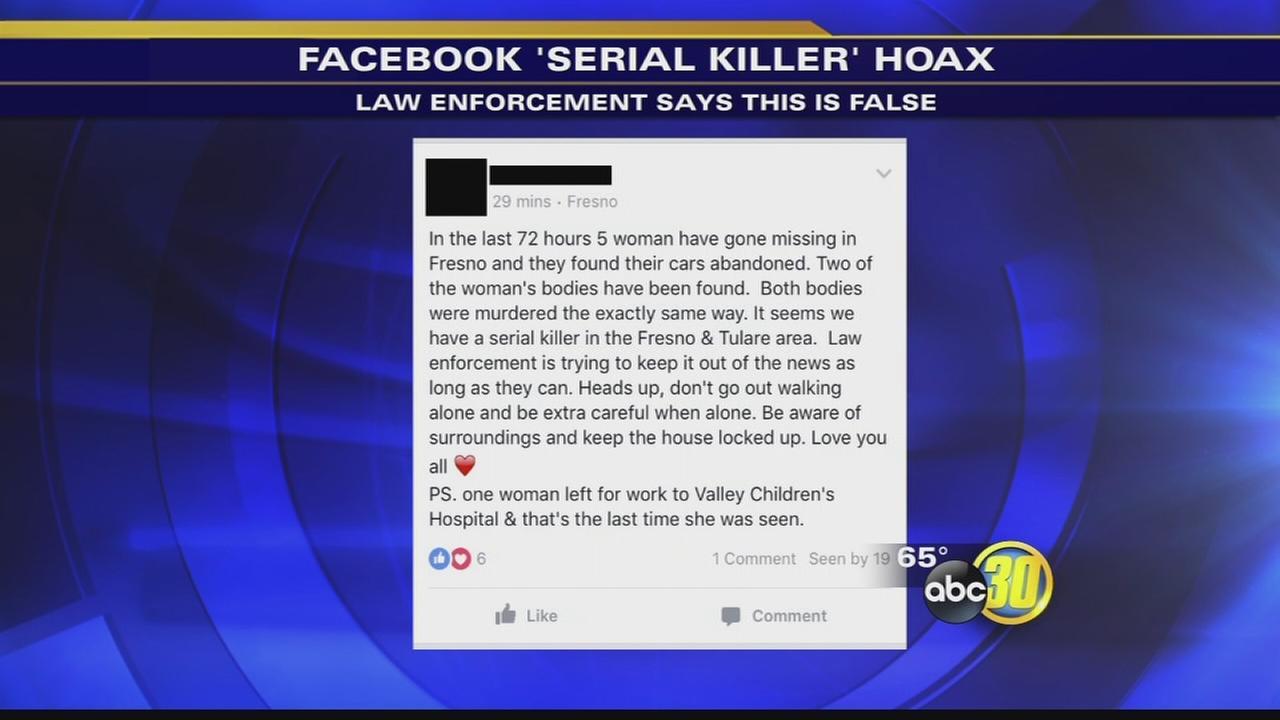 Fresno authorities address serial killer hoax