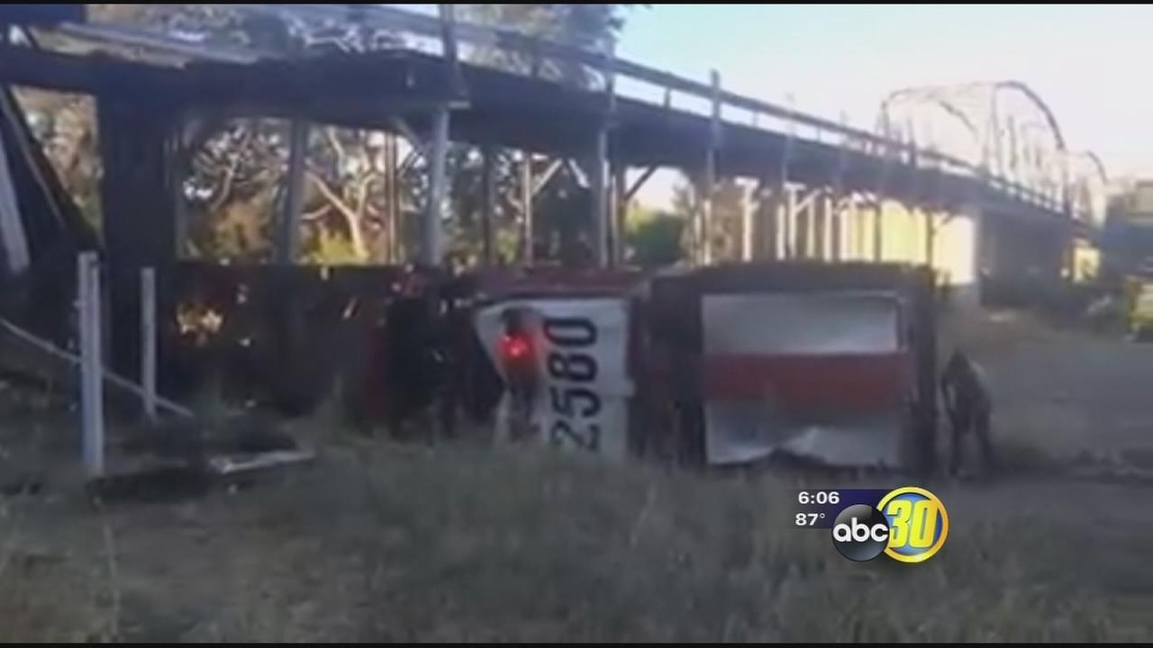3 Cal Fire firefighters injured in bridge collapse in Red Bluff