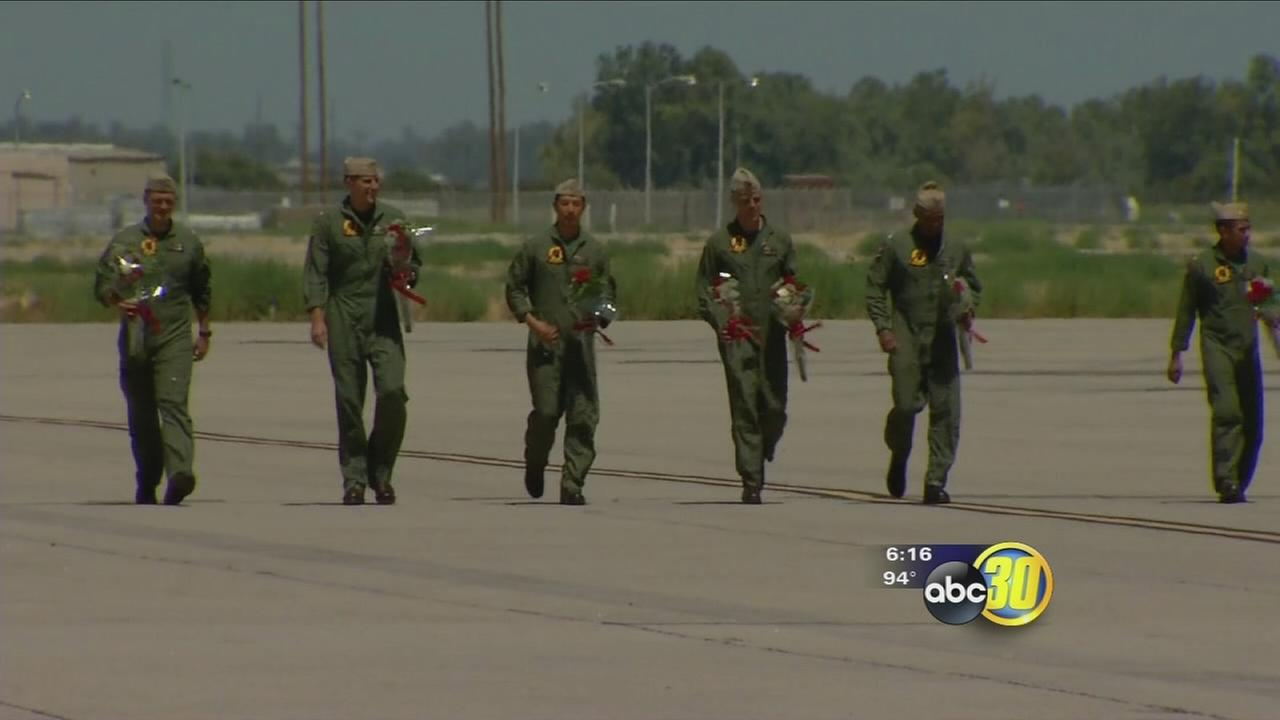 Fighter pilots return to Lemoore after 8 months at sea
