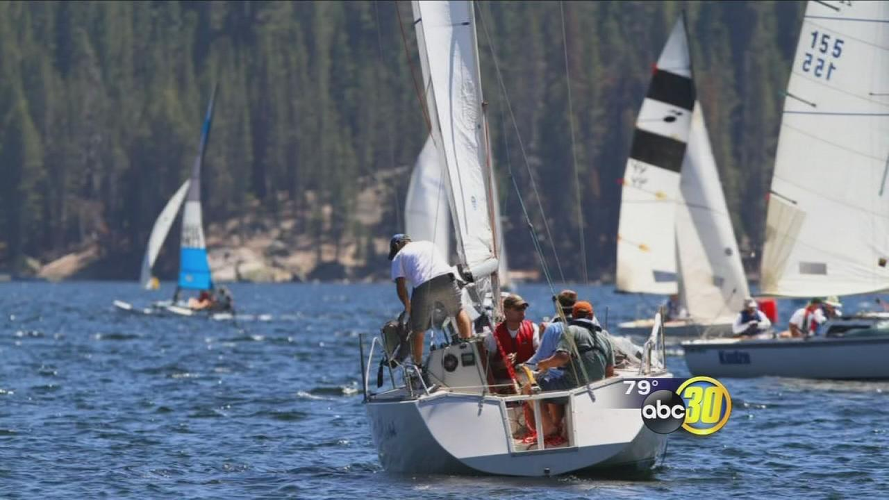 After years of drought, boat racing event comes back to Huntington Lake