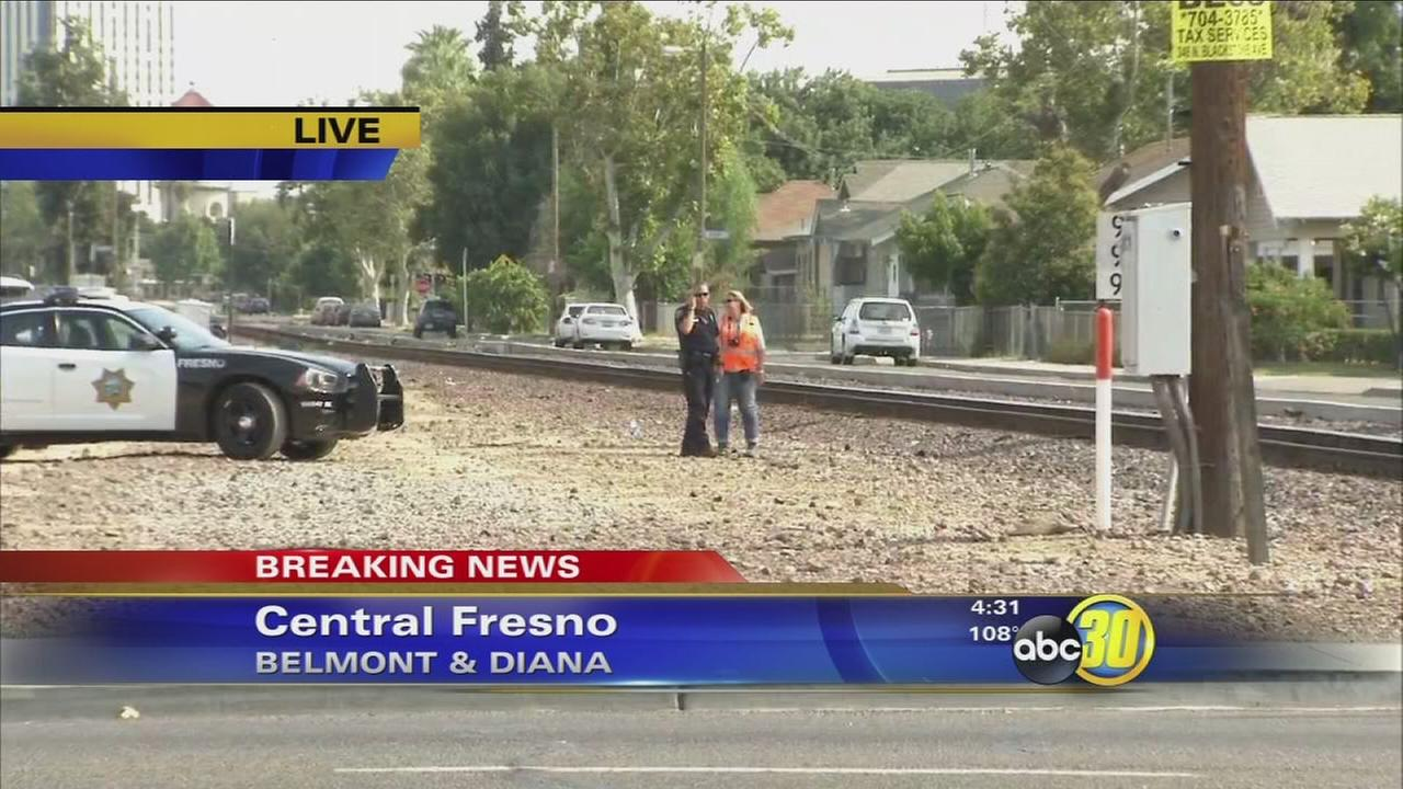 Man killed after being struck by Amtrak train in Central Fresno