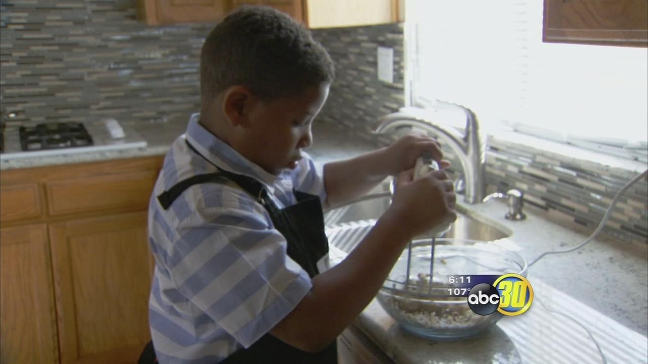 8-year-old Fresno boy starts baking business to help family