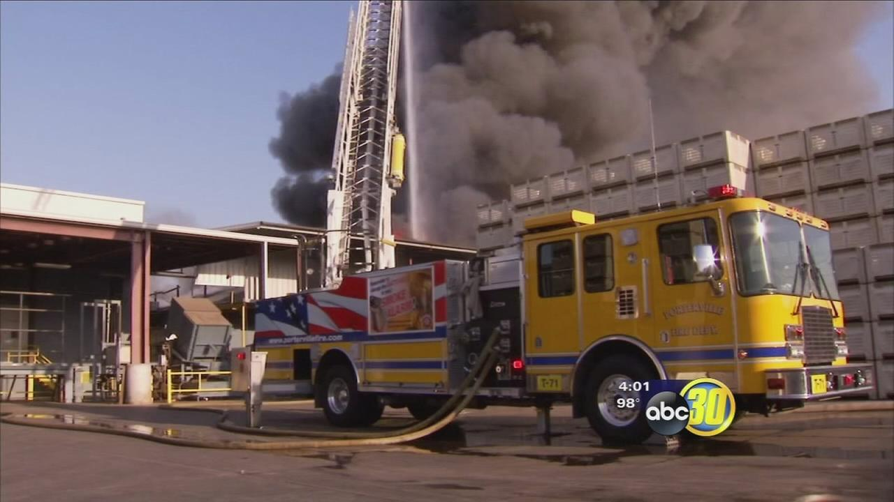 Fire at Tulare County citrus packing plant destroys 800,000 pounds of product