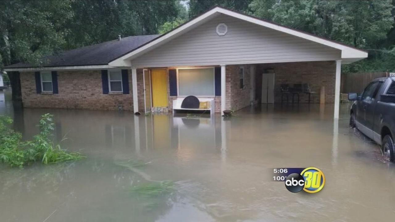 Merced woman whose family was displaced by Katrina dealing with flood waters again in Louisiana