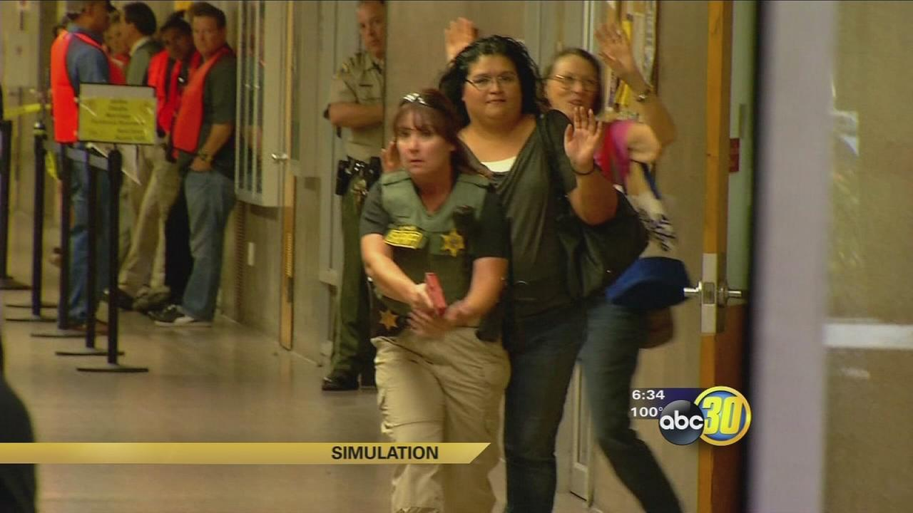 Tulare County Officials Hold First Of Its Kind Active Shooter Drill