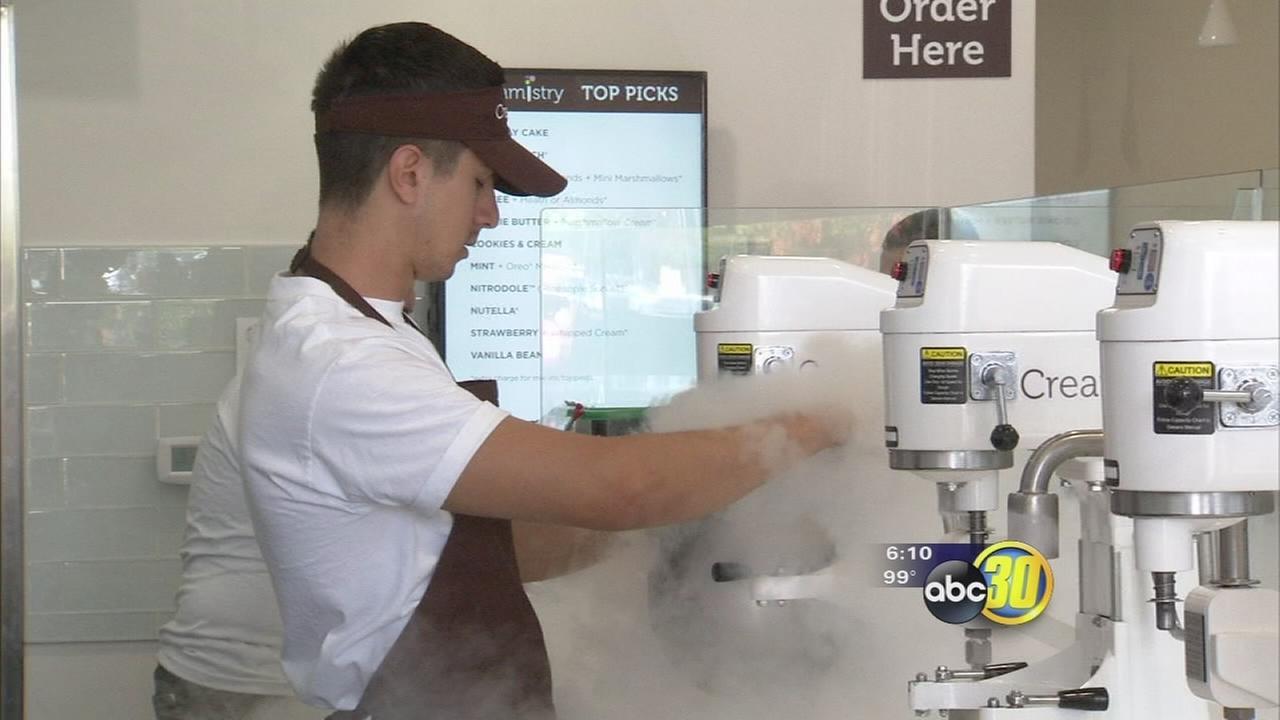 New ice cream shop in Clovis has a twist - liquid nitrogen