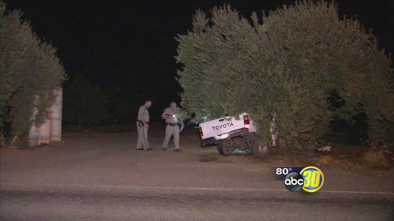 1 dead after Fresno County crash, car fire